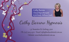 Cathy Barrow Hypnosis business card and brochure design