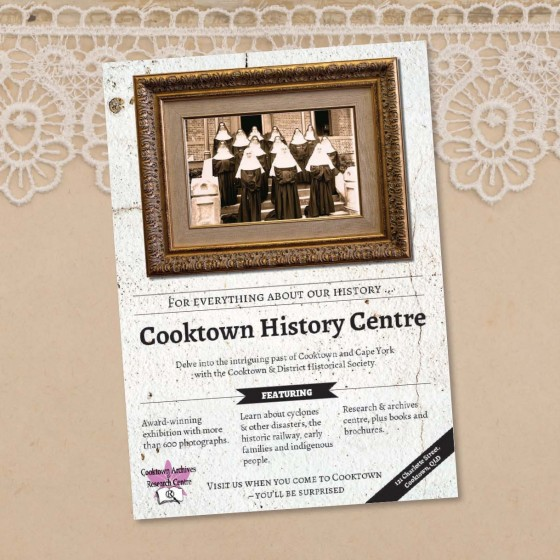 Cooktown History Centre poster design