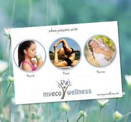 MyEcoWellness postcard design
