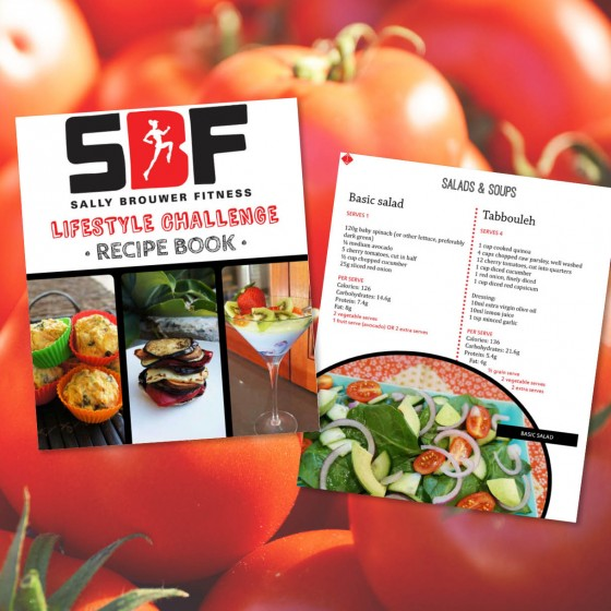 SBF Lifestyle Challenge #1 recipe book design