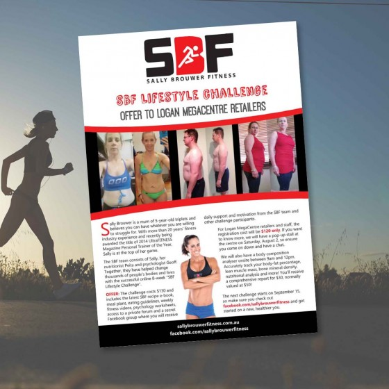 Sally Brouwer Fitness flyer design