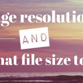 Image resolution and file size