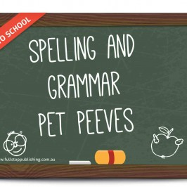 Spelling and grammar pet peeves