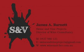 Swine & Vine business card