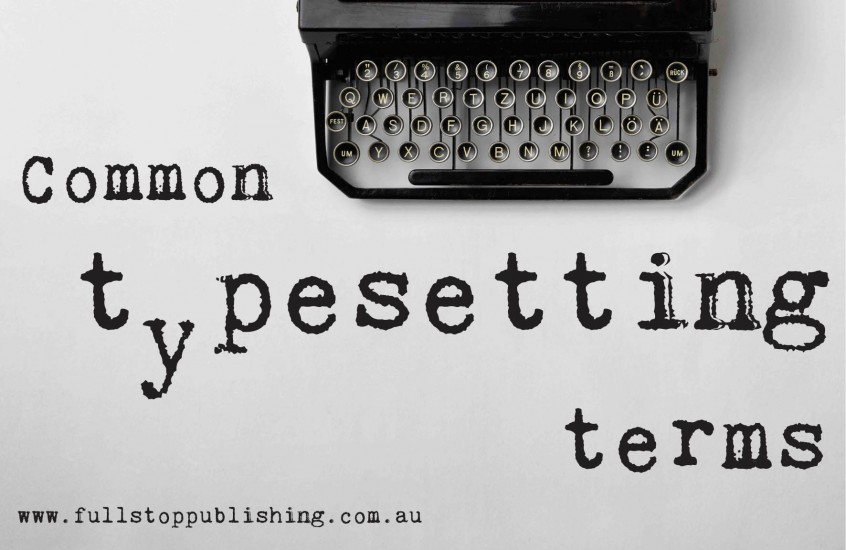 Common typesetting terms