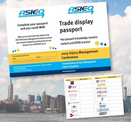 Trade display passport – flyer design