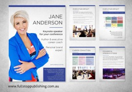 Jane Anderson media kit document design