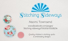 Stitching Sideways logo & business card design