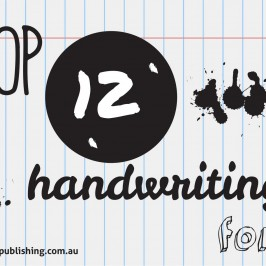 Top 12 handwriting fonts