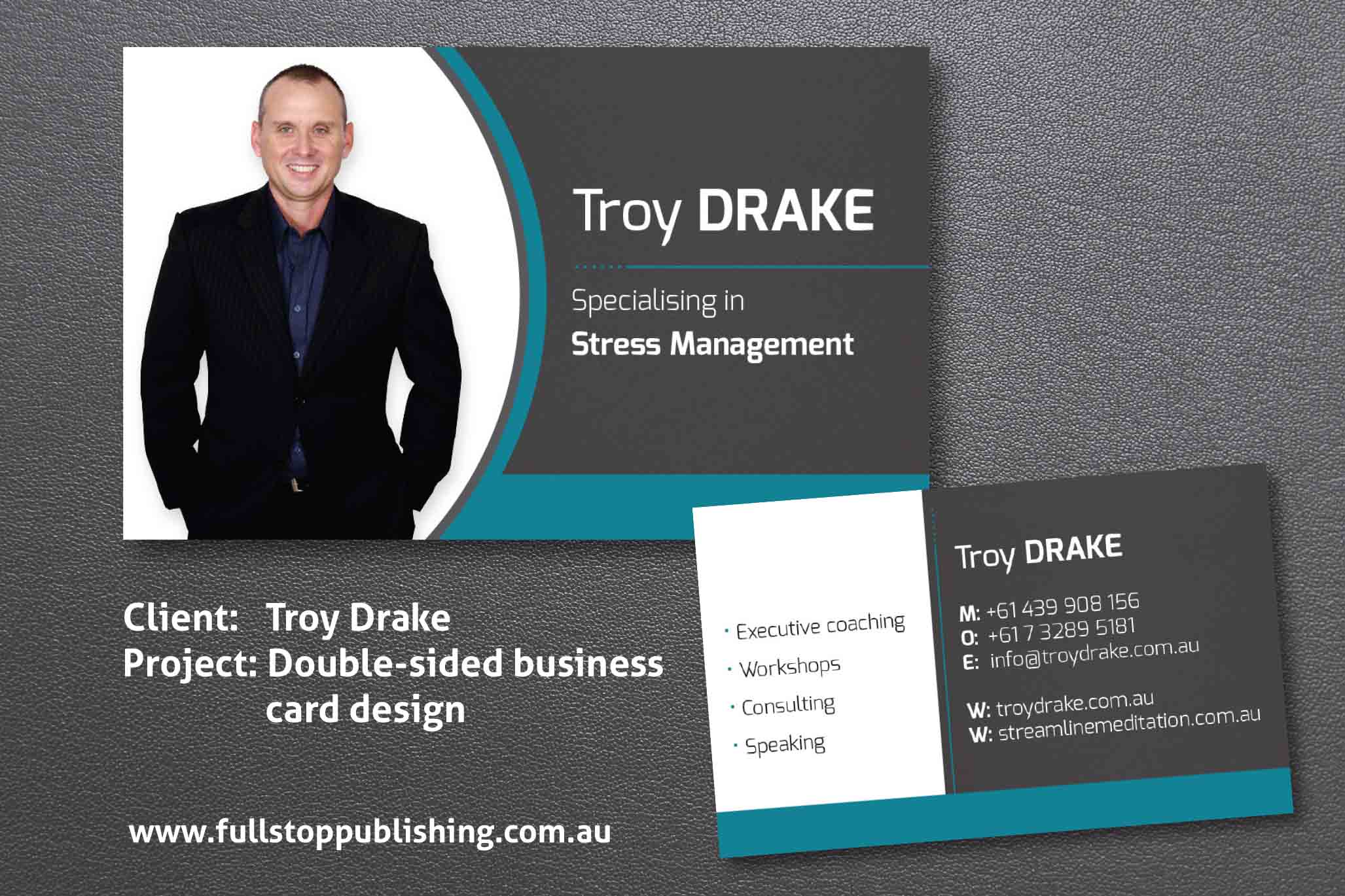 Corporate business card design reheart