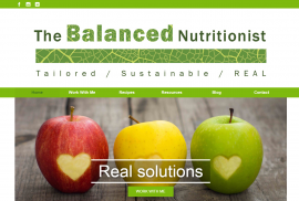 The Balanced Nutritionist website design