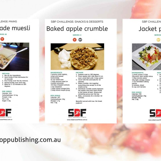 Recipe PDF design – Sally Brouwer Fitness