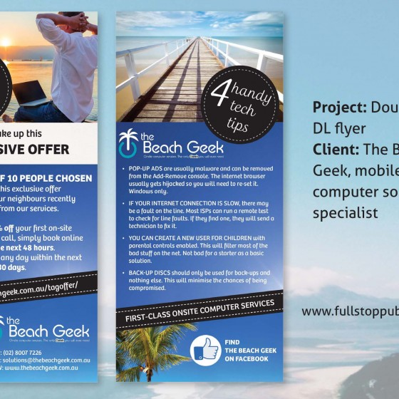 The Beach Geek flyer design