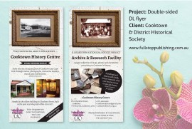 Cooktown History Centre flyer design