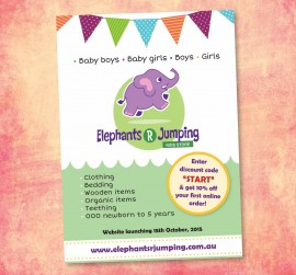 Flyer design, Elephants R Jumping