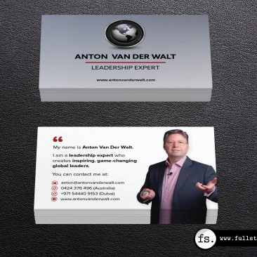 Business card design – Anton van der Walt