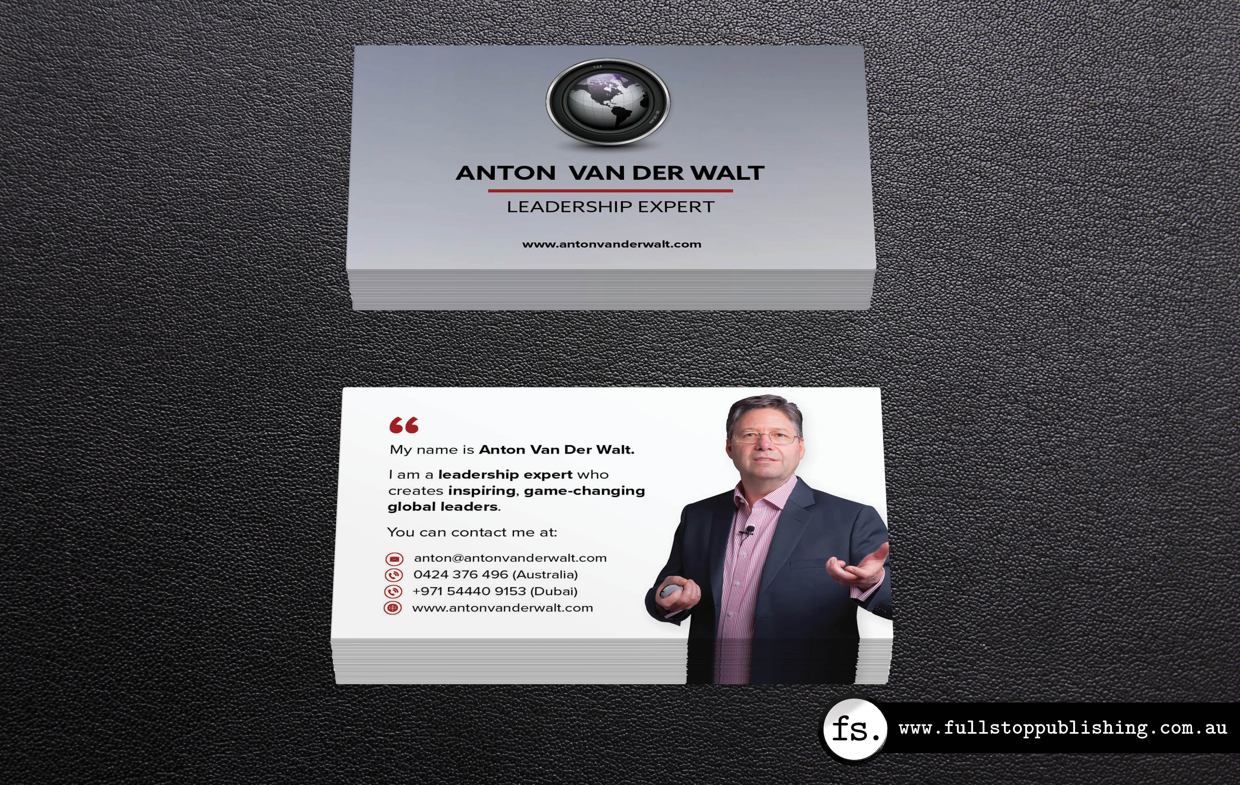 Business card design anton van der walt full stop writing i designed these double sided business cards for leadership expert anton van der walt reheart Choice Image