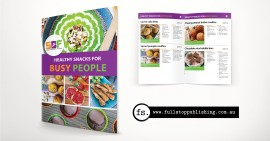 E-book design – Healthy Snacks for Busy People