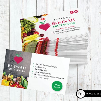 Business card design – Boonah Fruit Supply