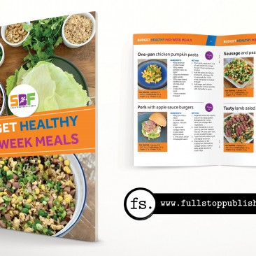 Recipe e-book design – Budget Healthy Mid-Week Meals
