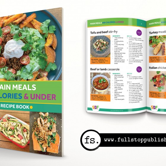 E-book design – Main Meals 400 Calories & Under
